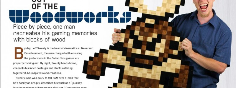 8 BIT WOOD in EGM magazine, October 2010