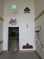 Space Invaders on wall
